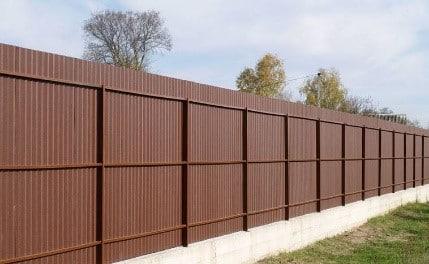 забор из профнастила цветной